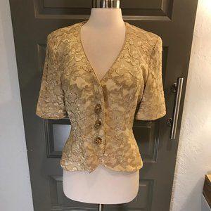 Vintage Victor Costa Gold Short Jacket 8